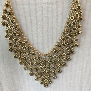 Chico's V necklace with gray stones